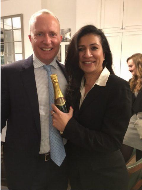The winning duo: David Savage and Aysha Ahmad